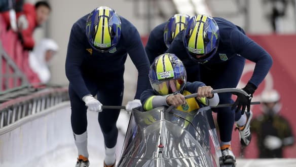 Brazil's underdog bobsleigh team, the Frozen Bananas, finds second home at Lake Placid