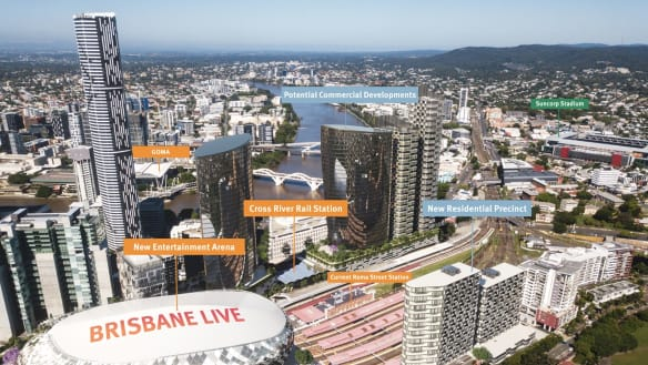 Brisbane Live entertainment precinct makes infrastructure priority list