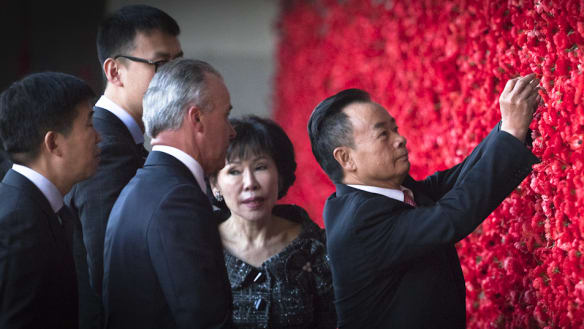 The pomp and ceremony that comes with a $560,000 donation