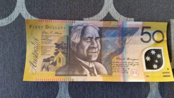 No one suspected the $50 notes were fake until Terry handed himself in