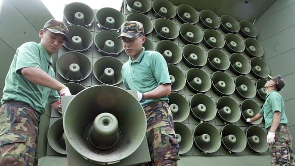 South Korea halts propaganda broadcasts before summit with North