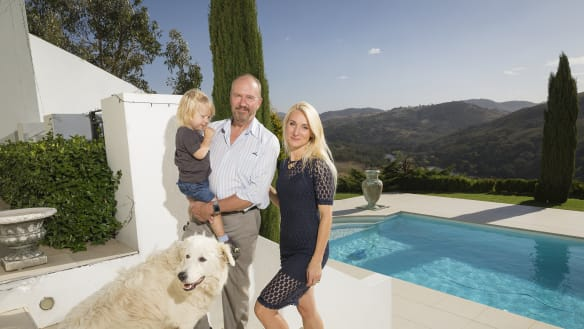 Inside the 1865sqm home of real estate identity Derek Whitcombe