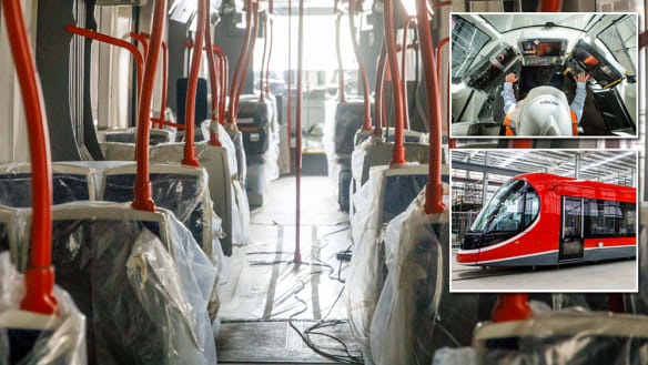 First trams to start running soon, but you won't be able to catch one