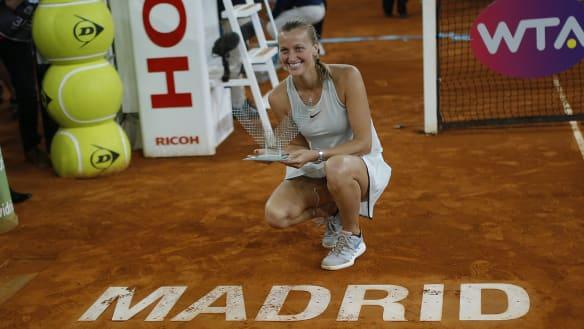 Kvitova hails 'crazy' year following knife attack