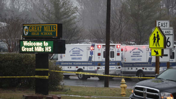 Teen shooter dead after several shot at Maryland school