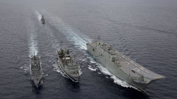 Australia displays growing firepower as China watches on