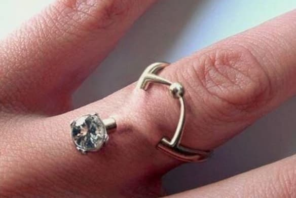 Experts are warning against 'engagement ring' piercings