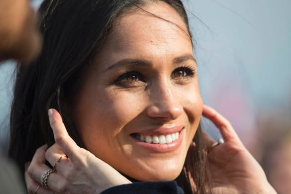 Meghan Markle will marry Prince Harry three months from today but her favoured designer, Roland Mouret, gave no hints about his possible role in making her dress at his London Fashion Week show.