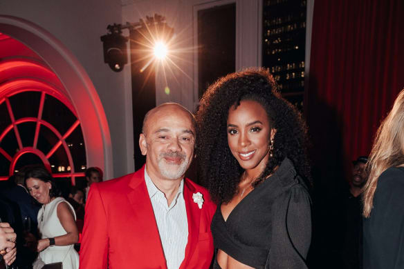 "Social Seen: Christian Louboutin and Kelly Rowland at a private soiree called the ""Loubi Lounge"" to honour Christian at the Queen Victoria Building on?Friday May 18, 2018."