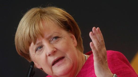 German Chancellor Angela Merkel suffered an 8.5 per cent slump in voter support.