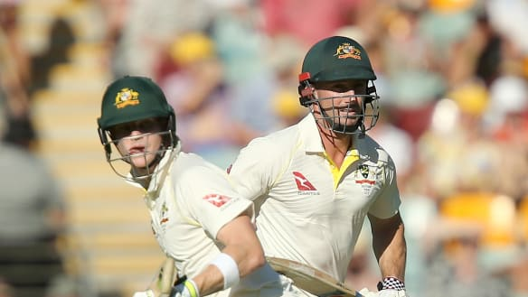 Rescue mission: Steve Smith and Shaun Marsh kept the scoreboard ticking over with their running between the wickets.