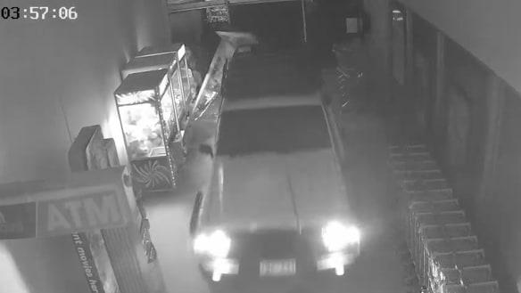 ATM thieves caught on video ram-raiding Frankston shopping centre