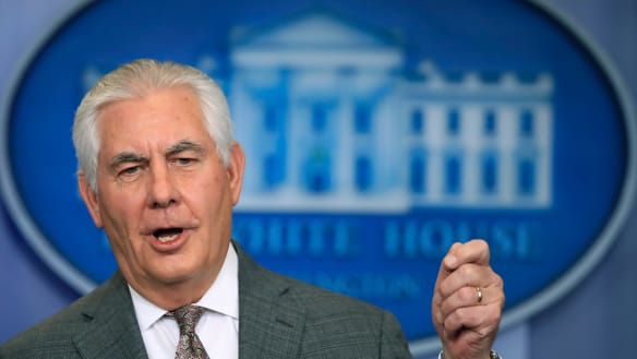 Rex Tillerson is reported to have urged Saudi Arabia to ease the blockade of Yemen to prevent a humanitarian crisis.