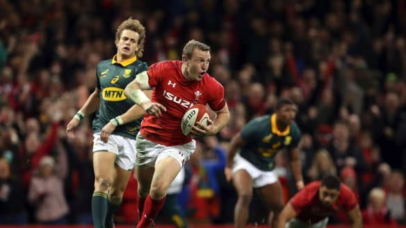 NZ-born Hadleigh Parkes scores twice on Wales debut in win over South Africa