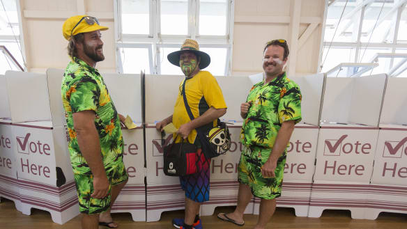 Queensland candidates brave voters at the polls