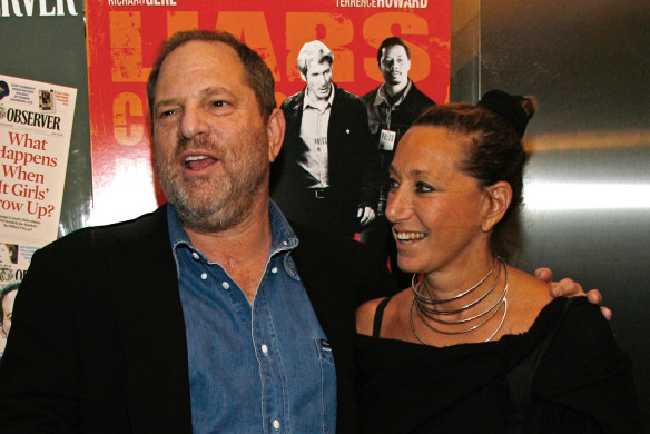 """Harvey Weinstein and Donna Karan arrive at the premiere of """"The Hunting Party"""" at the Paris Theater in New York in 2007."""