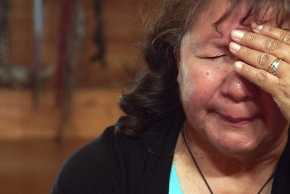 """""""Sometimes I can't believe what our people went through"""": Rev. Nancy Bruyere."""