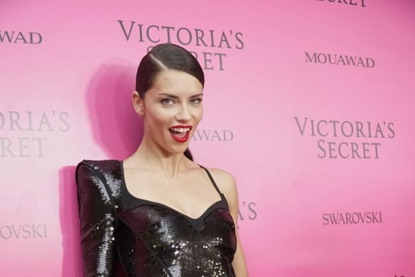 Victoria's Secret's model Adriana Lima poses for a photo, at the after party of the Victoria's Secret fashion show inside the Mercedes-Benz Arena in Shanghai, China, Monday, Nov. 20, 2017. (AP Photo)