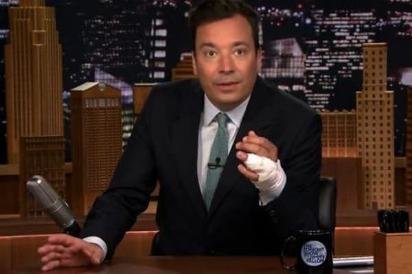 Jimmy Fallon reveals nearly losing a finger in ring ...