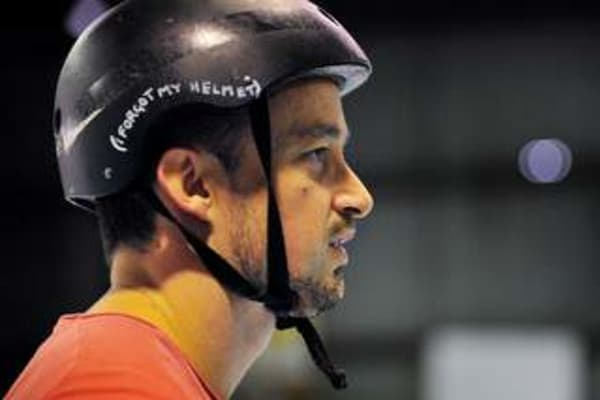 Finding out the hard way that roller derby's a tough sport