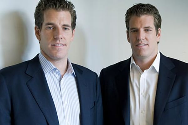 Winklevoss twins revealed as Bitcoin moguls