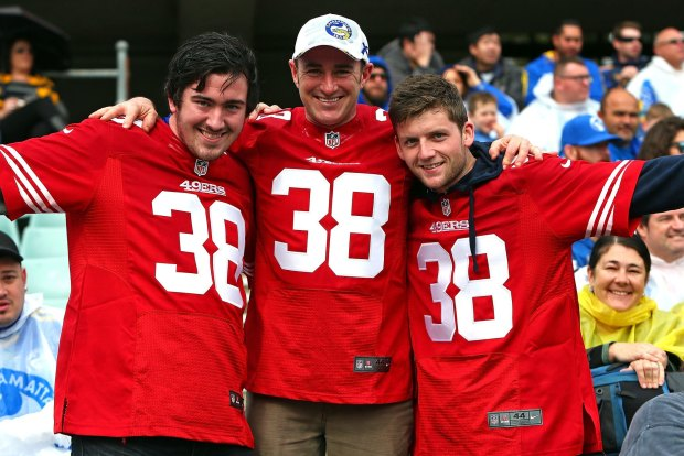 0f559ee4 San Francisco 49ers recruit Jarryd Hayne's jersey the most popular ...