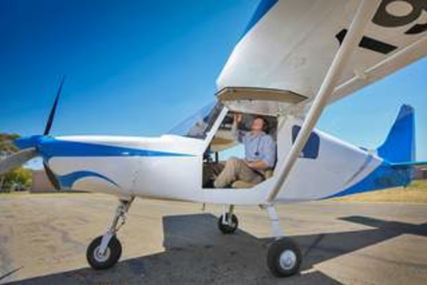 Mallee MP Andrew Broad flies to work
