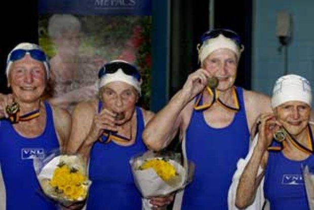 Clarise Artis (97 ans), Trudy Bullivant (90 ans), Nancy Ayres (89 ans) et Hazel Gilbee (84 ans)
