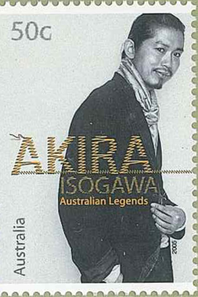 Isogawa was one of six designers on a 2005 Australian Legends stamps series.