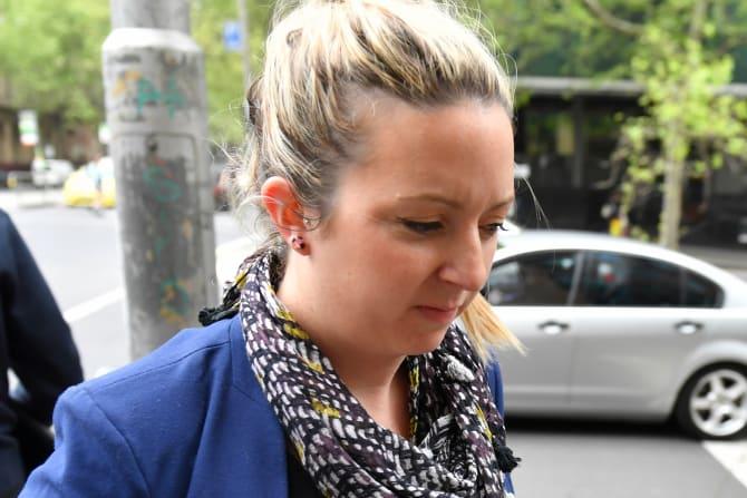 Jessie Scarlett-Rhodes arrives at court.