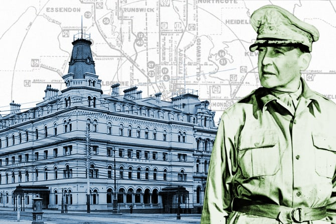 General Douglas MacArthur and the Menzies Hotel.