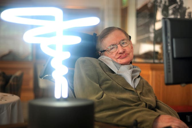 The world's most famous and longest living sufferer of ALS, Stephen Hawking.