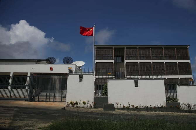 Part of the sprawling Chinese embassy in Port Vila.