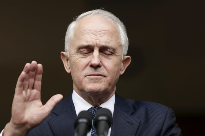 Bombarded by questions from the press gallery, Malcolm Turnbull reveals he would resign from Parliament if he lost the Liberal leadership.