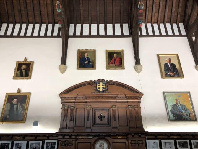 Robert Hannaford's portrait of Bob Hawke hangs in University College, Oxford.