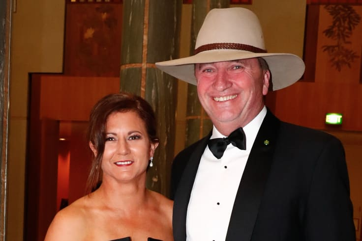 Barnaby Joyce with his wife Natalie. The pair have now separated.
