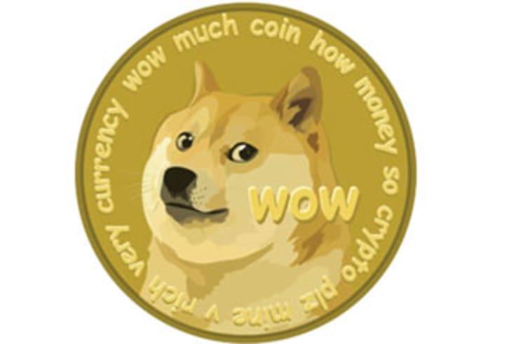 The dogecoin logo.