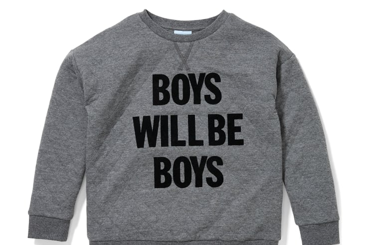 'Boys Will Be Boys' pyjama shirt from Peter Alexander.