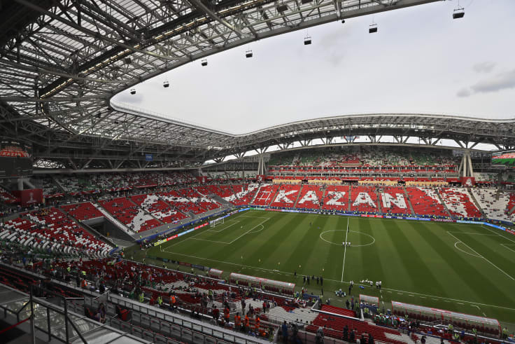 Kazan Arena stadium is the venue for Australia's game against France on Saturday.