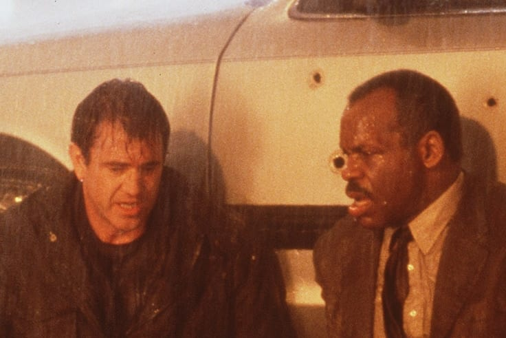 Danny Glover with Lethal Weapon co-star Mel Gibson