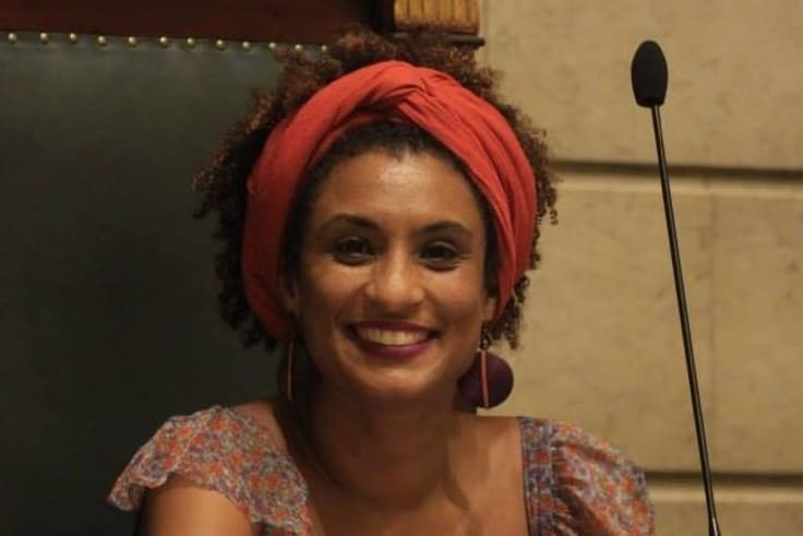 Assassinated: Rio city councillor Marielle Franco in a photo from her official Facebook page.