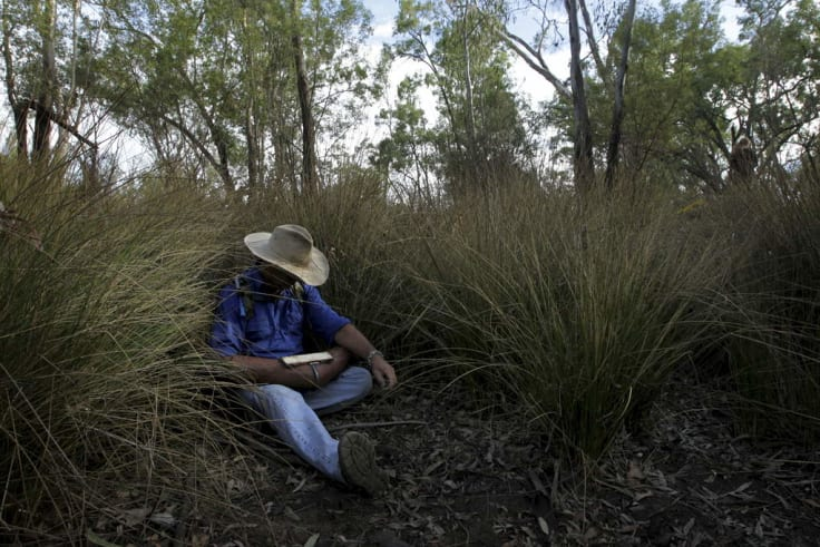 Ted Borowski, a Coonamble grazier protesting against the Narrabri Gas Project.