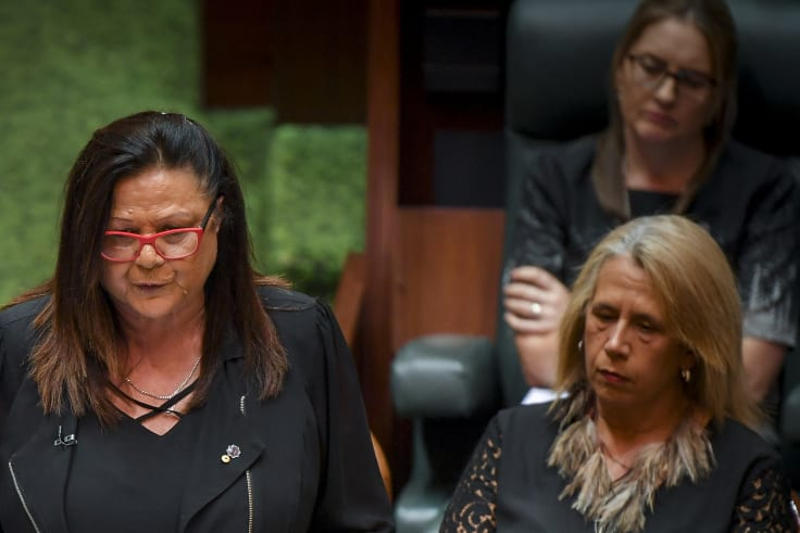 Victorian Treaty Advancement Commissioner Jill Gallagher (left) addressed State Parliament in March.