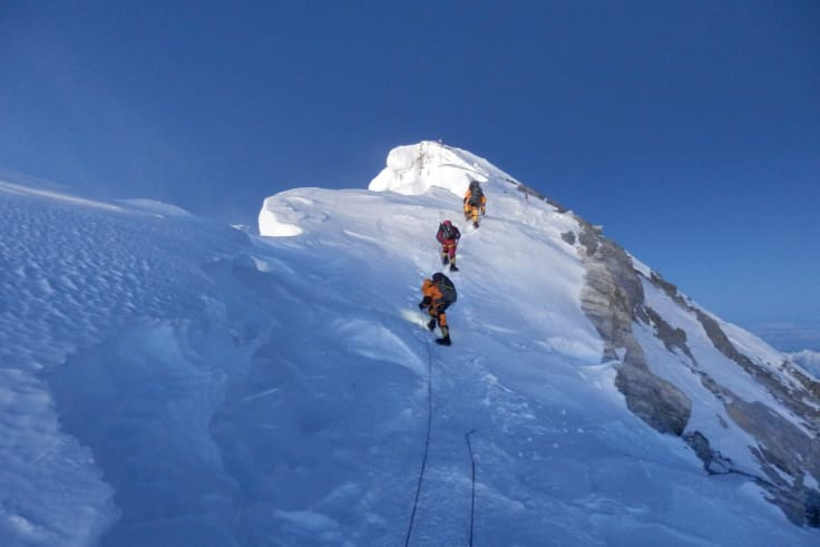 Reaching the summit on May 19.