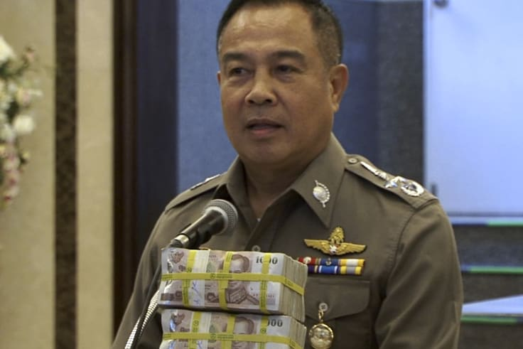 Somyot Poompanmoung, now head of the Football Association of Thailand, offered a reward $120,000 reward for information over a deadly bombing in Bangkok, only to give the money to his team.