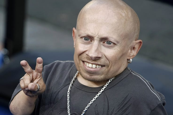 "Verne Troyer poses on the press line at the premiere of the feature film ""The Love Guru"" in Los Angeles."