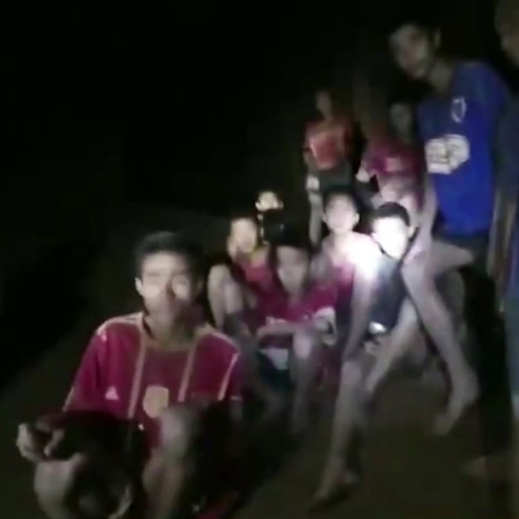 The group were found alive inside the cave. It would be more than a week before they would be freed.