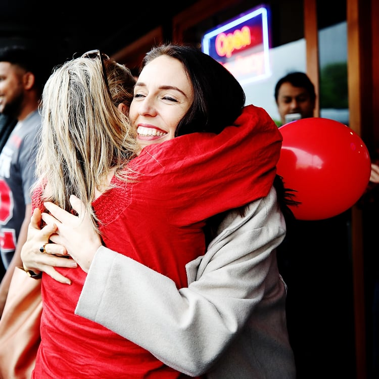 New Zealand Prime Minister Jacinda Ardern meeting locals at a street festival in Auckland last October.
