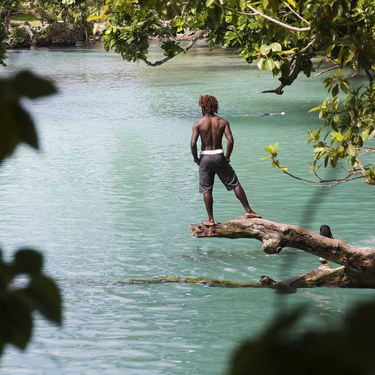 Blue Lagoon on Efate island in Vanuatu.