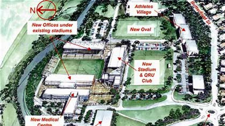 An artists' impression of the Ballymore redevelopment.